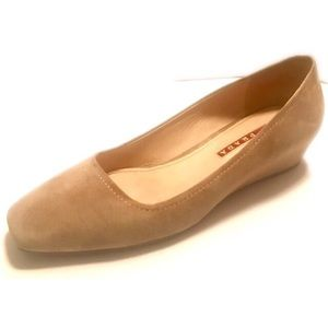 Prada Sport Tan Suede Wedges
